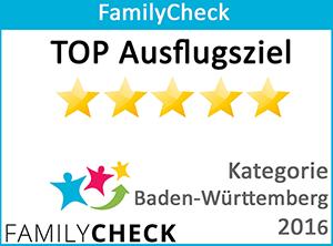 FamilyCheck – TOP Ausflugziel (BaWü 2016)