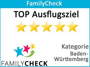FamilyCheck – TOP Ausflugziel (BaWü)